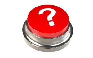 Red Button with a Question Mark