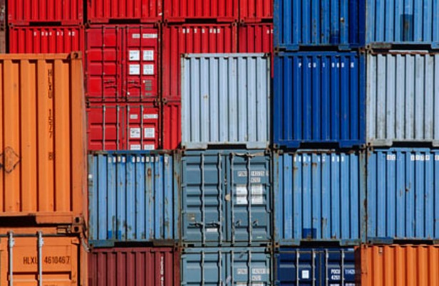 Cargo Containers in Stacks